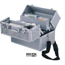 en aluminium vides boîte de premiers secours avec 4 plateaux et une bandoulière en gros