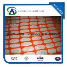 """Cerca de neve plástica laranja de 48 """"X 50 ′"""