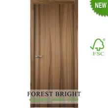 O projeto agradável projetou a porta nivelada de madeira do folheado para o hotel