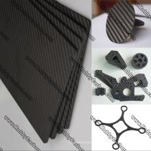 Plaques en verre de carbone mat brillant passe-temps jouet