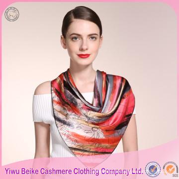 Bufanda de seda colorida de alta calidad de la venta caliente para pintar