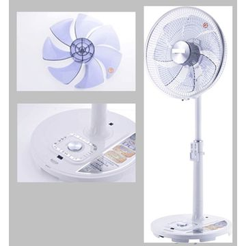 12 velocidades de controle de freqüência Blushless DC Motor Stand Fan (USDF168L)