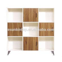 Büro verwendet Holz Regal mit Schubladen und Schließfach, Wenge Farbe Polsterung (KB203-2)