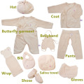 10PCS Organic Cotton Baby Clothes for Gift with Lovely Design Made in China