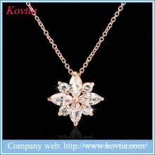 Fashion zircon stone pendant necklaces cz jewelry wholesale for women