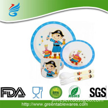 personalized in mold label childrens dinner set