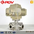 Válvula elétrica do produto comestível da braçadeira sanitária do interruptor