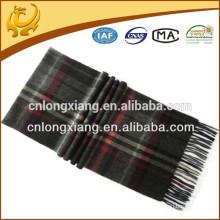 Chèque classique 100% écharpe en laine gros pour hommes