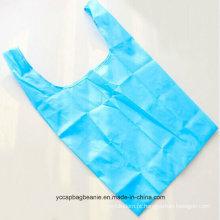 Saco de compras dobrável de nylon reutilizável personalizado