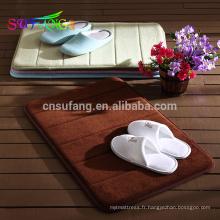 Linge de lit d'hôtel / Softtexile salle de bains anti-dérapant utilisé tapis de bain