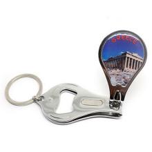 Souvenir Tour Product Enamel Logo Nail Keychain Porte-bouteille (F5062)