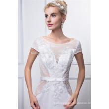 2016 Embroidery bodice accept taffeta wedding dress