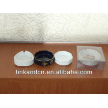 Haonai 2014 white blank ceramic ashtray for sale