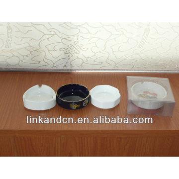 Haonai 2014 white blank ceramic ashtray for sale
