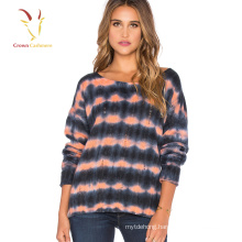 Ladies Beautiful Cashmere Sweater Printing Designs