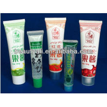 Cosmetic packaging tube for cream