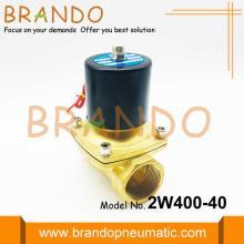 1 1/2 дюймовый латунный соленоидный водяной клапан 2W400-40