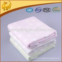 Fabricação de manta de China 100% cobertor de algodão, Cobertura de algodão de impressão de preço de fábrica por atacado