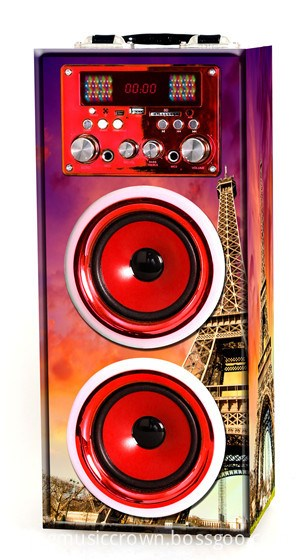Paris style floor karaoke portable speaker