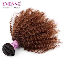 Vente en gros Afro Kinky bouclés brésiliens Ombre cheveux tisse