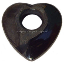 Hematite Heart Pendant Gemstone Jewelry Joyas de piedras preciosas
