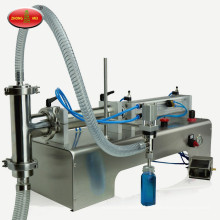 Semi automatic paste water vertical single head filler milk oils ointment honey pneumatic liquid filling