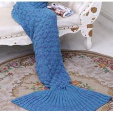 Blue adult tail Mermaid blanket fish tail blanket