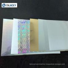 Guangzhou Waterproof Printing Hologram PVC Sheet for Digital/Inkjet Printing