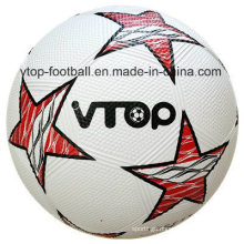 White Color Rubber Soccer with Star Logo for Promotion Gifts