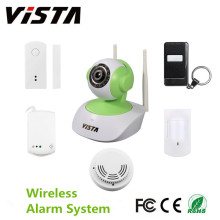 Smart Home IP Wifi segurança Camera Kit com porta Sensor PIR
