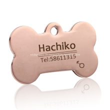 Benutzerdefiniertes Logo gedruckt Edelstahl Metall Hundemarke