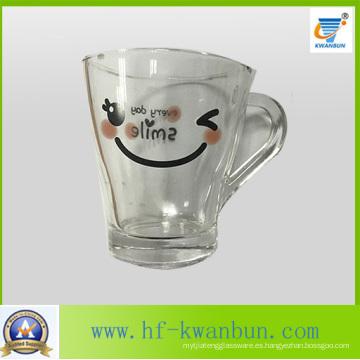 Taza de cerveza del vaso del vidrio de la sonrisa