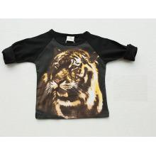 Last Design Original Graphic 1-4y 3D Print Tiger Long Sleeve Kid T-Shirt, Tees Sq-17100