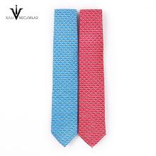 Cravate mince en gros de coton tissé par Jacquard de haute qualité des hommes