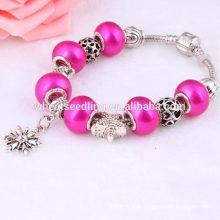 Fresco verão rosa vermelho barato costume unidade adolescente meninas pulseiras