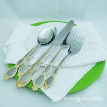 Gold Sand Blast Stainless Steel Cutlery Set
