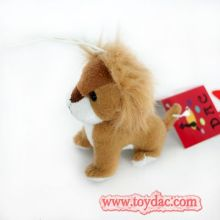 plush lion key ring