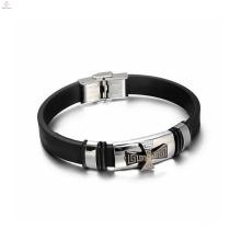 Bracelets uniques de silicone de croix d'hommes, bracelet de silicone de contrôle de forme physique de sport