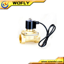 high quality underwater solenoid shut-off valve brass/304/316 material thread/flange connection