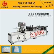 Máquina ultrasónica de la fabricación de algodón del maquillaje del trapo de la mano