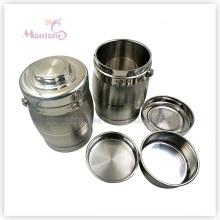 Isolierter Edelstahl-Nahrungsmittelbehälter mit 3 Schichten
