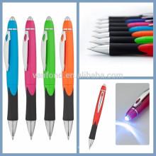 2015 nueva oficina & escuela promoción bolígrafo Led luz bolígrafo