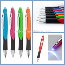 2015 New Office & School Promotion Ballpoint Pen Led Light Ballpoint Pen