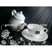 Weiße Porzellan-Teekanne für Teehaus