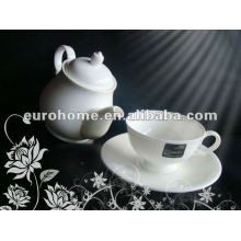 white porcelain teapot set for tea house