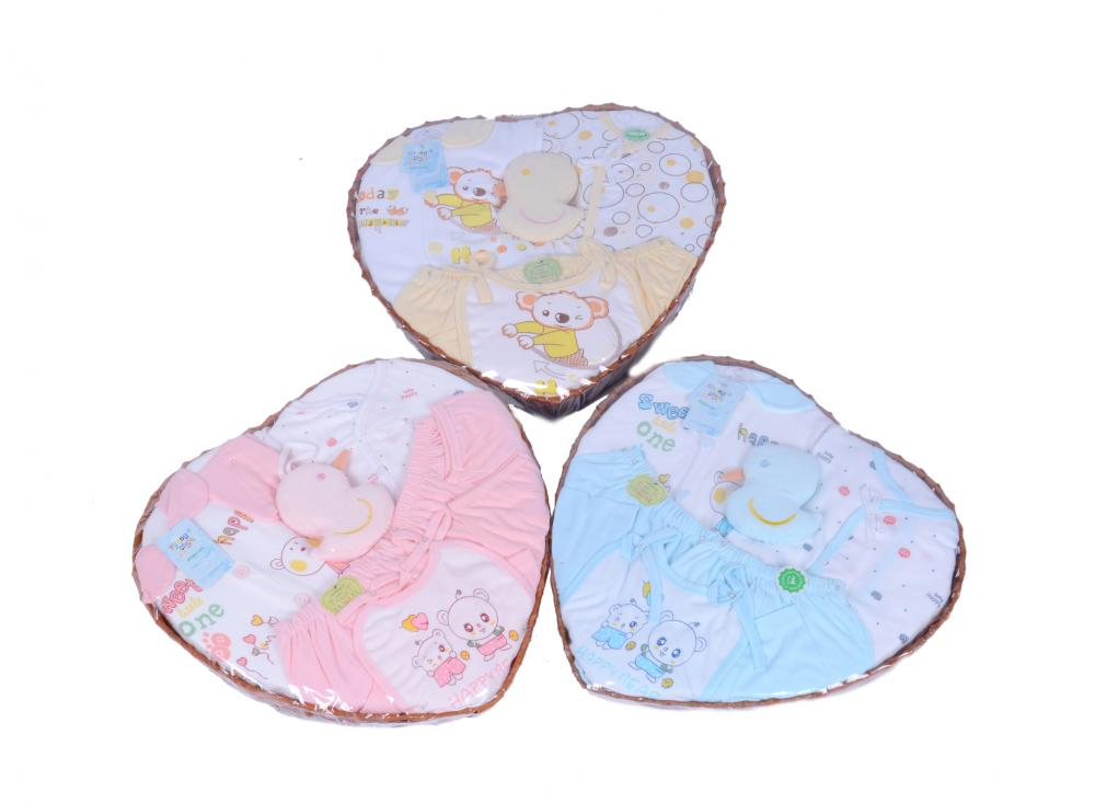 Baby Clothes Set with Heart- Shaped Box Packing