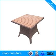 Table basse carrée en rotin de Funiture extérieure