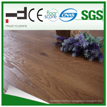 8mm Crystal Surface 3 Strips Walnut Water Proof Laminated Floor with Best Sell