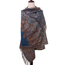 Warme Schal Blumenmuster Mode Pashmina