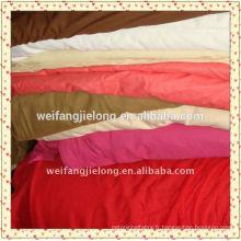 Nouveau 2014 drap de lit cvc & coton stock teint en tissu teint